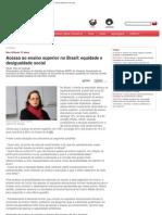 Acesso Ao Ensino Superior No Brasil_ Equidade e Desigualdade Social - Ensino