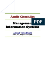 MIS Audit Checklist