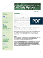 DDRS Quarterly Update - April 2013