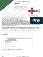 Cavity Opto-mechanics - Wikipedia, The Free Encyclopedia