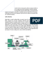 Lathe Machine and Its Components
