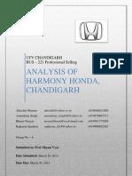 Analysis of Honda Chandigarh