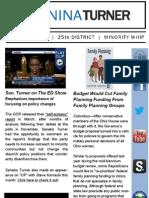 Senator Nina Turner | April 2013 E-newsletter