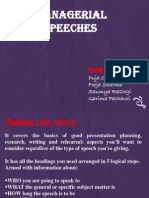 Managerial Speeches