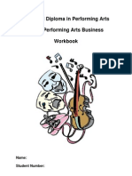 Performing Arts Business Work Booklet