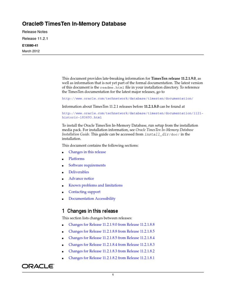 times ten in memory database oracle database pl sql rh es scribd com Primavera Software Sybase IQ