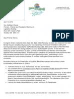 Letter from Sault Ste. Marie Mayor to Premier Wynne regarding OLG Head Office