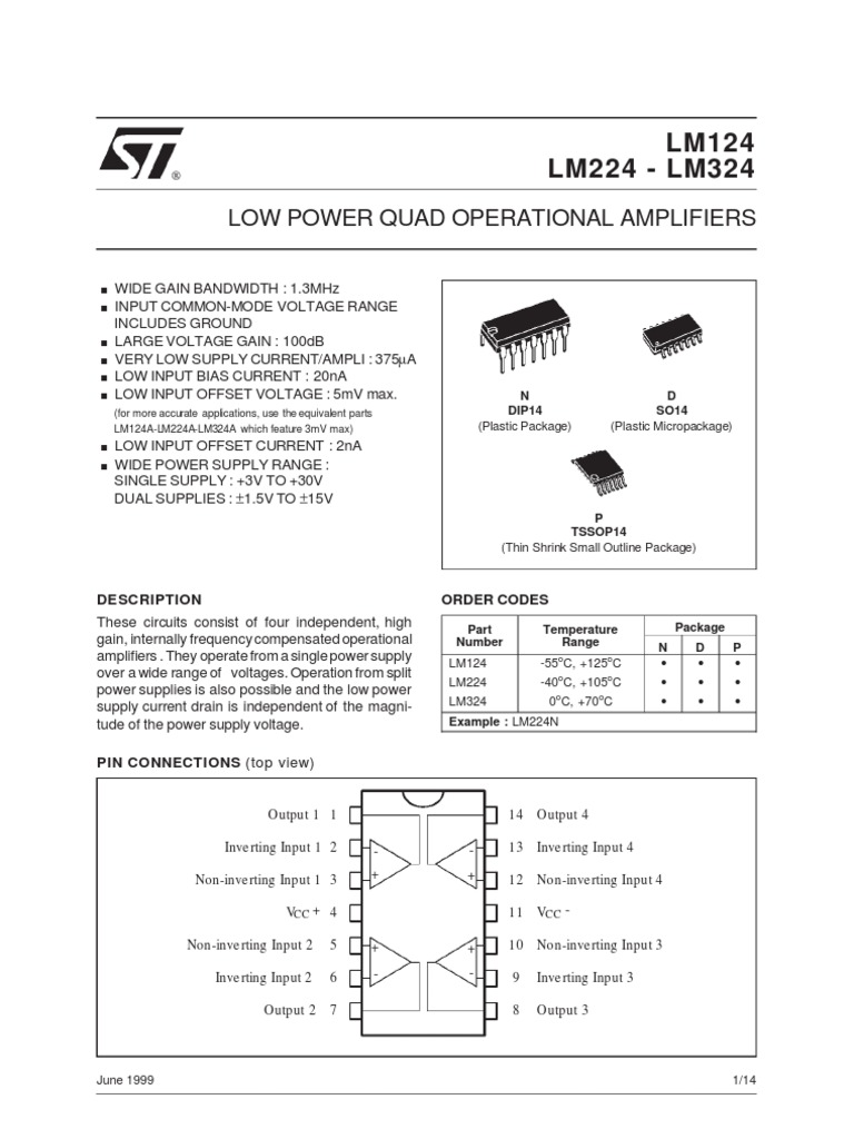 Lm324 Pre Amplifier Power Supply Lm324n Circuit