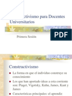 Constructivismo Para Docentes Universitarios