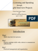 meaningful interview projects