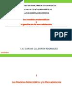 Sesión 01 - Los modelos matemáticos y la gestión de la mercadotecnia
