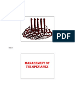 Management of the Open Apex