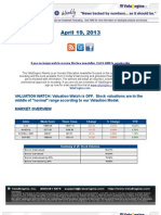 ValuEngine Weekly News April 19, 2013