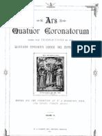 Ars Quatuor Coronatorum, Vol. 40 (1928)