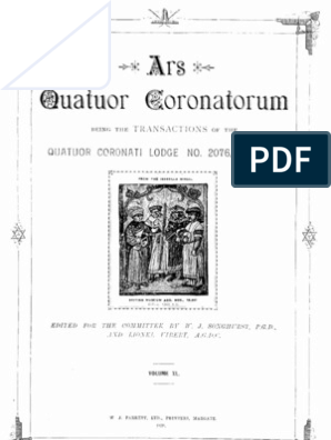 Ars Quatuor Coronatorum, Vol  40 (1928) | Masonic Lodge