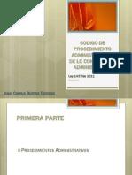 Ley 1437 de 2011, Código de Procedimiento Administrativo y de lo Contencioso Administrativo