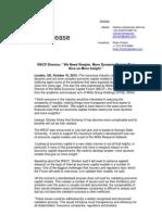 Markus Stricker Press Release 2012