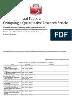 NJC_Toolkit_Critiquing a Quantitative Research Article