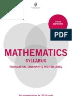 junior certificate maths syllabus