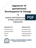 Assignment of Organizational Development
