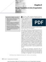 Chap09_Intégration de l'innovation et choix d'organisation