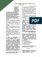 Revoltas na República Velha - Oligárquica - Questões de Vestibulares