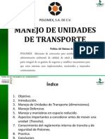Manejo de Unidades de Transporte