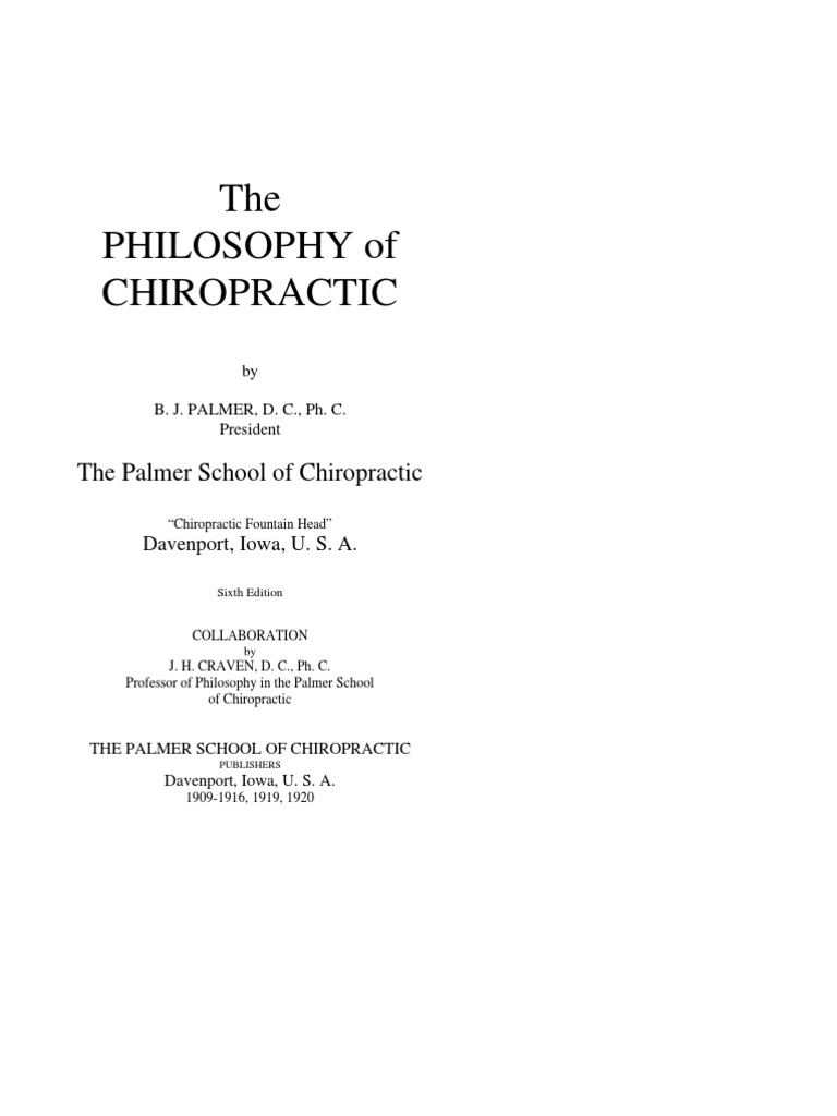 the green books by bj palmer v5 the phil of chiropractic 1920 pdf