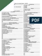 Checklist Feminino