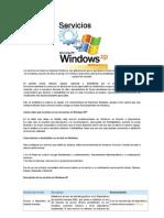 Deshabilitar Servicios Innecesario en Windows XP