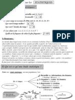 Cours Statistiques Premiere