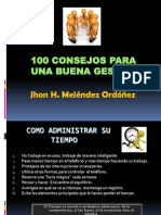 100 Consejos Para Una Buena Gestion