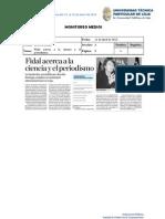 Informe de prensa semana del 12 al 19 de abril de 2013