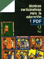Técnicas participativas para la educación popular  tomo II libro
