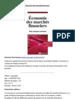 Économie des marchés financiers