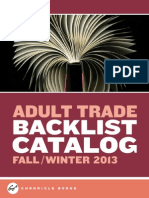 Chronicle Books Adult Trade Backlist Fall 2013 Catalog