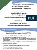 Klein OpioidEducationConferenceFDA013009