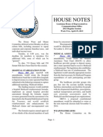 2013 House Notes - Week 2