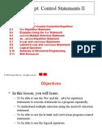 Java Script Control statements 2 - notes