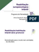 reabilitação neuropsicológica infantil