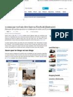5 coisas que você não deve fazer no Facebook [ilustração]