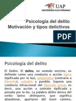 Psicologia Del Delito Motivacion y Tipos Delictivos