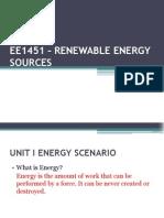EE1451 – RENEWABLE ENERGY SOURCES