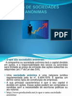 TIPOS DE SOCIEDADES ANÔNIMAS