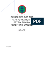 Transportation of Petroleum by Road Tank Wagons