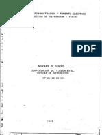 NT-DV-00-03-05 Normas de diseño Compensacion de tension en el