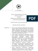 UU No 5 tahun 2012 tentang Pembentukan Kabupaten Banggai Laut di Sulawesi Tenggara