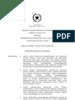 UU No 6 tahun 2013 tentang Pembentukan Kabupaten Taliabu di Provinsi Maluku Utara