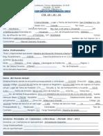 Hoja de Datos Personales 2013 Marisol