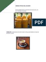 Bebidas Tipicas Del Ecuador